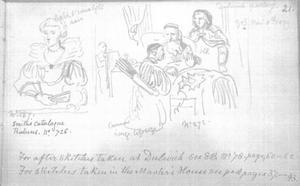 Kopie van Rubens' Portret van Katherine Manners (?) (DPG143) en van Horsts Isaac zegent Jacob (DPG214)