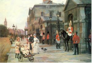 Gezicht op Whitehall