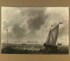 Zeilschip op een binnenwater