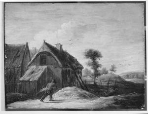 Landschap met huizen