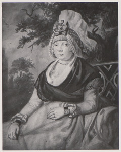 Portret van een vouw, mogelijk Caroline Severin  (1768-1794)