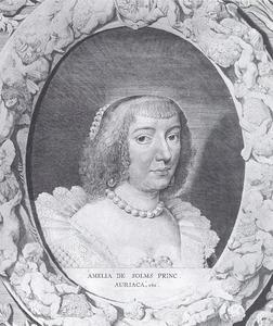 Portret van prinses Amalia van Solms, gravin van Braunfels (1602-1675), echtgenote van prins Frederik Hendrik