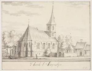 De kerk in het dorp Hagestein