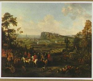 Het beleg van Namen door Willem III van Oranje-Nassau (1695)