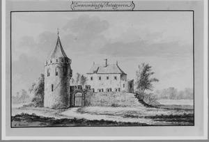 Voorzijde van Zwanenburg (ook wel Zwammerdamsburg) bij Bodegraven