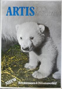 Artis-Tentoonstellings-Affiche: Artis Zoo Amsterdam, NIEUW Berenterrassen & Olifantenverblijf
