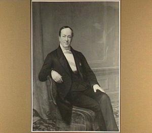 Portret van Abram van Rijckevorsel, zakenman, lid Eerste en Tweede Kamer, lid van de kamer van koophandel Rotterdam (van 1823-1864)