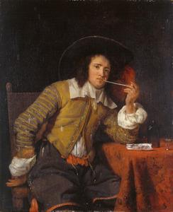 Pijprokende jonge man