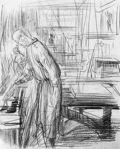 Hendrik Werkman in de drukkerij