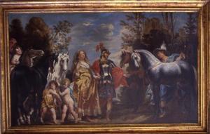 Mercurius toont paarden aan Mars en Venus