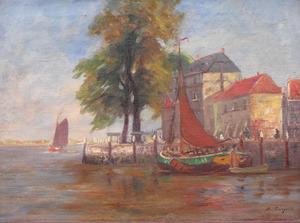 Gezicht op het Groothoofd te Dordrecht