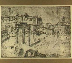 Rome, Forum Romanum en Capitool, gezien vanaf de Palatijn