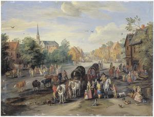 Gezicht in een dorp