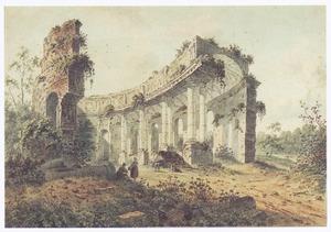Klassieke ruïne in landschap