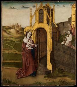 Maria en kind voor de paradijspoort