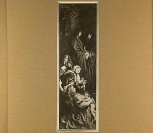 Johannnes, Maria en een groep treurende vrouwen