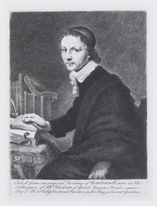 Portret van een man aan zijn schrijftafel