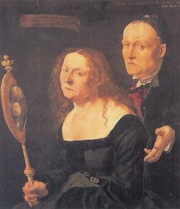 Portret van de schilder Hans Burgkmair (1473) en zijn vrouw Anna, geboren Allerlai