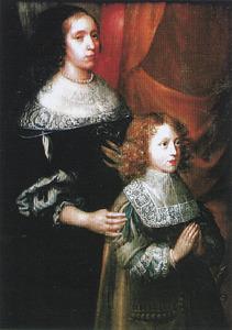 Nederdaling van de Heilige geest met portrettten van Maria Magdalena de Smidt van Baerland (?-1685) en Philip Maximiliaan de Ricourt dit de Licques (?-1682)