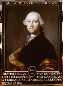 Portret van Jacob Evert van Muyden (1732-1795)