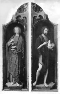De H. Johannes de Doper (rechts), de H. Johannes de Evangelist (links)