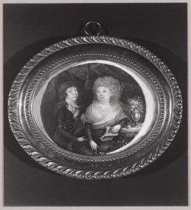 Portret van Henriëtta Geertruid Theodora Joachima Wilhelmina van Haersolte (1752-1836) en haar neefje Rudolf Floris Carel baron Bentinck tot Schoonheten (1785-1857)