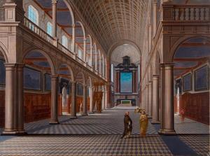 Interieur van de  Jezuïetenkerk St. Carolus Borromeus te Antwerpen
