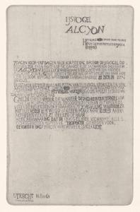 Tekst bij IJsvogel ALCYON