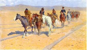 Ponysporen op de bisonroute aan de Amerikaanse westelijke grens
