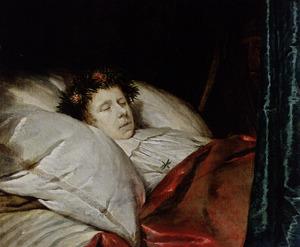 Doodsbedportret van een jongen