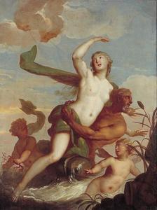 Amphitrite door Neptunus ontvoerd