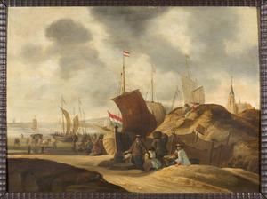 Strandgezicht bij Scheveningen