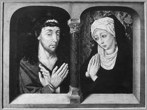 Christus en Maria als Man van Smarten en Mater Dolorosa