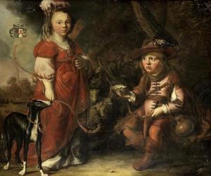 Dubbelportret van een jongen en een meisje als Granida en Daifilo