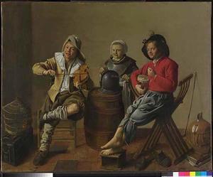 Drie musicerende kinderen in een interieur