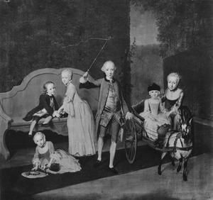 Portret van de kinderen van Cornelis Ascanius van Sypesteyn (1723-1783)  en Elisabeth Anna Slicher (1726-1766)