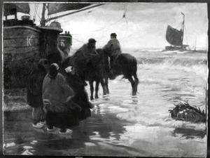 Sur la plage Hollandaise