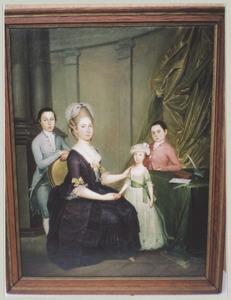 Portret van Jacoba Maria Cornets de Groot (1741-1815) en haar drie kinderen