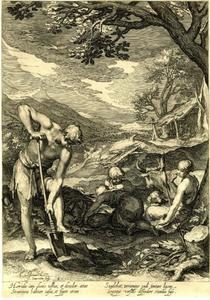 Adam en Eva aan het werk