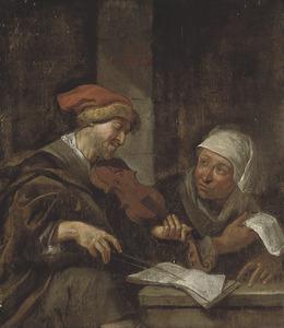 Man en vrouw die muziek maken