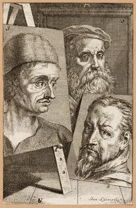 Portretten van Willem Key (....-1568), Frans Floris (....-1570) en Pieter Aertsen (....-1575)