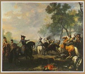 Ruitergevecht onder aanvoering van Koning-Stadhouder Willem III