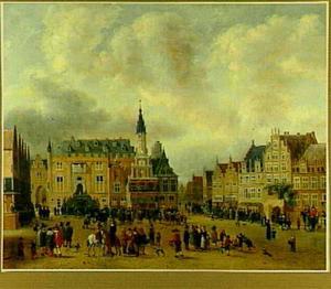 De aankondiging van de Vrede van Munster op de Grote Markt in Haarlem