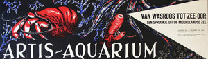 Artis-Aquarium-Tram-Affiche: 'Van Wasroos tot Zee-oor'