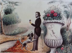 Portret van waarschijnlijk Jan Wilhelm Hoek (1826-1848)