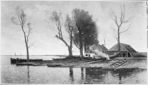 Scheepswerf aan het Zwarte Water bij Hasselt