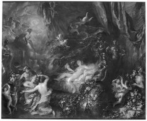 Mercurius onthult het overspel van Venus en Mars aan de overige goden