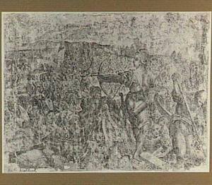 De Turken bij Piombino door het leger van Cosimo I de' Medici teruggedreven naar zee