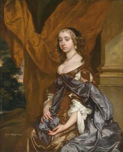 Portret van  Mary Fane, later Countess of Exeter (1639-1681)