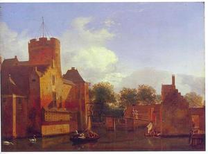 Gezicht op kasteel Loenersloot